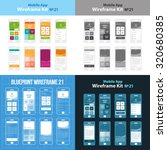 mobile wireframe app ui kit 21. ...