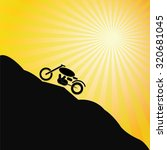 vintage motorcycle on mountain