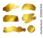 gold watercolor texture paint... | Shutterstock . vector #320681564
