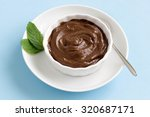 homemade chocolate mousse in a... | Shutterstock . vector #320687171