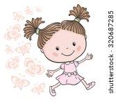 illustration of little walking... | Shutterstock .eps vector #320687285