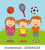kids sports design  vector... | Shutterstock .eps vector #320696105