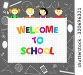 welcome to school | Shutterstock .eps vector #320696321