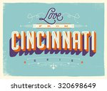 vintage style touristic... | Shutterstock .eps vector #320698649