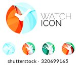 set of abstract watch icon ...   Shutterstock .eps vector #320699165