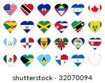 icons of north america flags.... | Shutterstock . vector #32070094