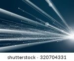 abstract geometric technology... | Shutterstock .eps vector #320704331