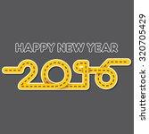 creative happy new year 2016... | Shutterstock .eps vector #320705429