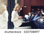 modern business woman or... | Shutterstock . vector #320708897