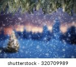 Abstract Snowy Background With...