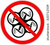 air drone ban symbol. no drone... | Shutterstock .eps vector #320712539