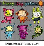 Cute Vector Toys Animals. To...