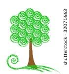 green tree   Shutterstock .eps vector #32071663