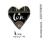 hand drawn style heart. tribal... | Shutterstock . vector #320755859