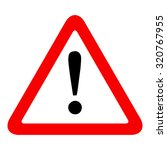 warning sign icon  isolated on... | Shutterstock .eps vector #320767955