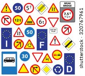 set of traffic signs  isolated... | Shutterstock .eps vector #320767961