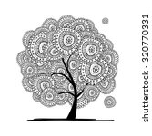 abstract floral tree for your... | Shutterstock .eps vector #320770331