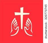 dove  hands  cross | Shutterstock .eps vector #320773745