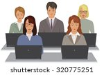 the lecture  students. study.... | Shutterstock .eps vector #320775251