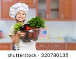child cooking. | Shutterstock . vector #320780135