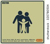 happy family icon in simple... | Shutterstock .eps vector #320780504