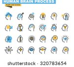 flat line icons set of human... | Shutterstock .eps vector #320783654