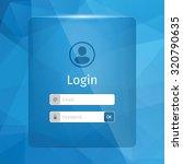 login interface. blue...