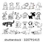 Cartoon Dog Set  Vector...