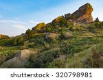 Red Rocks, Colorado The fauna and flora around the rocks  - stock photo