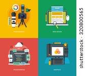 set of flat design illustration ... | Shutterstock .eps vector #320800565