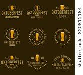 oktoberfest vintage logo...   Shutterstock .eps vector #320815184