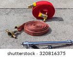 red fire hose | Shutterstock . vector #320816375