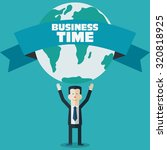 successful businessman holds... | Shutterstock .eps vector #320818925