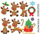 christmas reindeer vector... | Shutterstock .eps vector #320822921
