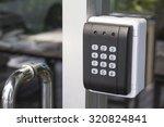 black security door have a... | Shutterstock . vector #320824841