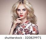 portrait of beautiful sensual... | Shutterstock . vector #320829971