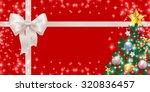 christmas ribbon background | Shutterstock .eps vector #320836457