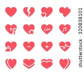 vector hearts icons set | Shutterstock .eps vector #320838101