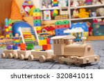 Wooden Train In The Play Room...