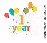 phase happy birthday with...   Shutterstock .eps vector #320852021
