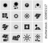 vector black solar energy icon... | Shutterstock .eps vector #320852117