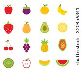 fruits icons | Shutterstock .eps vector #320856341