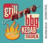 restaurant grill menu... | Shutterstock .eps vector #320857031