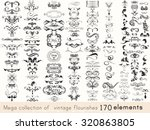 a collection of vintage style... | Shutterstock .eps vector #320863805