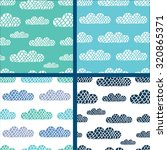 colorful clouds. kids vector... | Shutterstock .eps vector #320865371