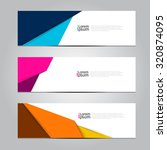 vector design banner background.... | Shutterstock .eps vector #320874095