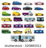 vector set. transportation... | Shutterstock .eps vector #320883311