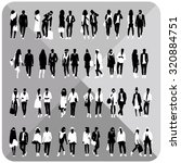 standing people silhouettes....   Shutterstock .eps vector #320884751