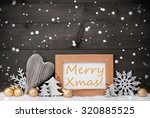 golden christmas decoration on...   Shutterstock . vector #320885525