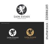 lion logo lion real estate real ... | Shutterstock .eps vector #320886185